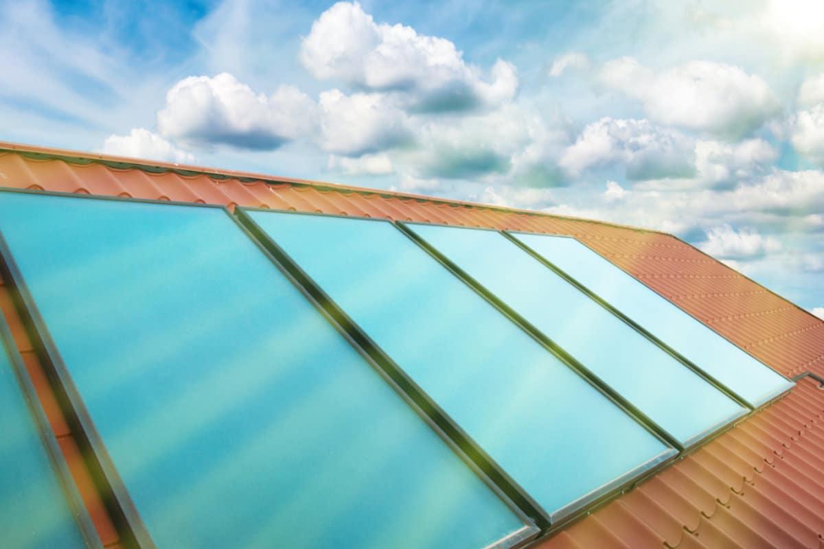 vlakke zonnecollectoren